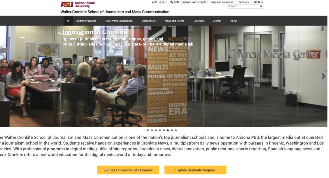 Walter Cronkite School of Journalism and Mass Communication, Arizona State University